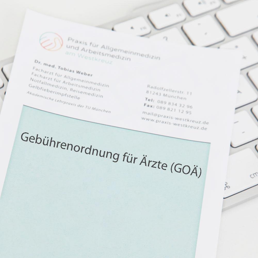 Individuelle Gesundheits- Leistungen (IGeL) Praxis am Westkreuz in Muenchen