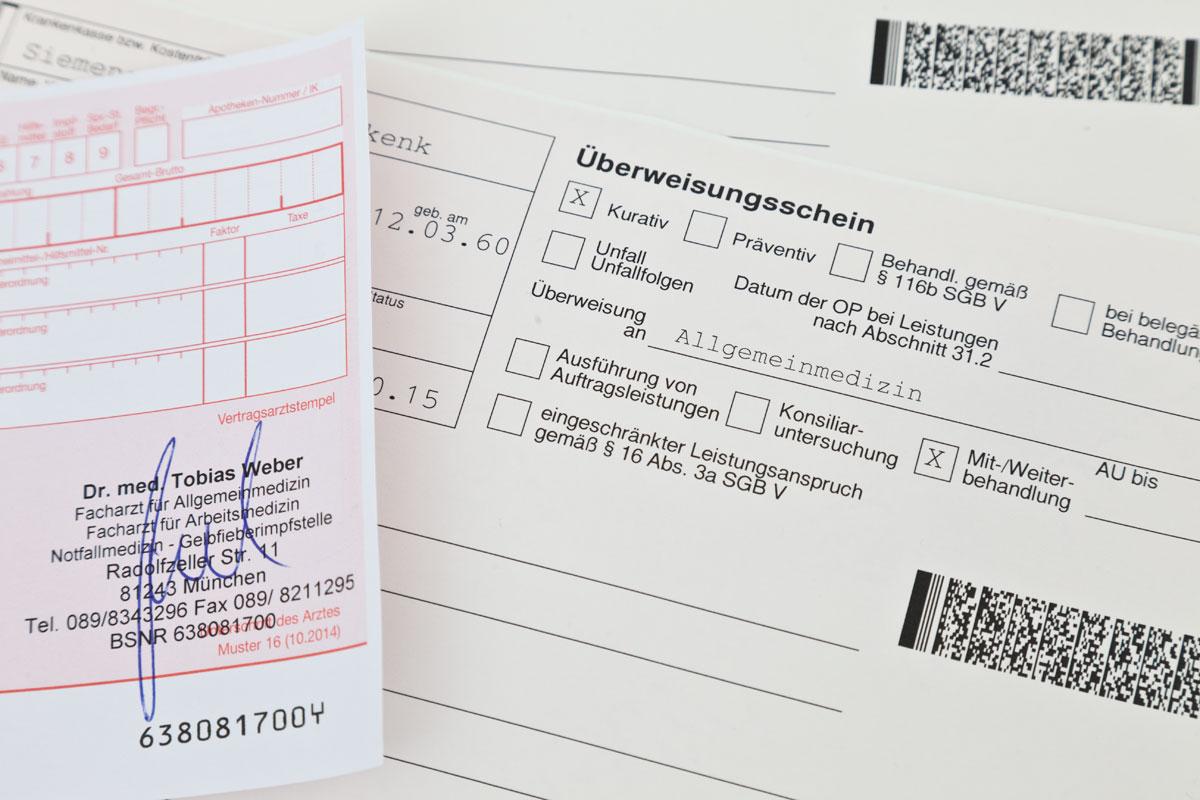 rezept Praxis am Westkreuz in Muenchen